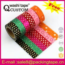 gift decoration paper and plastic measure tape