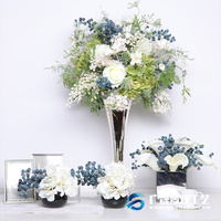 French style wedding table decoration artificial flower supplier