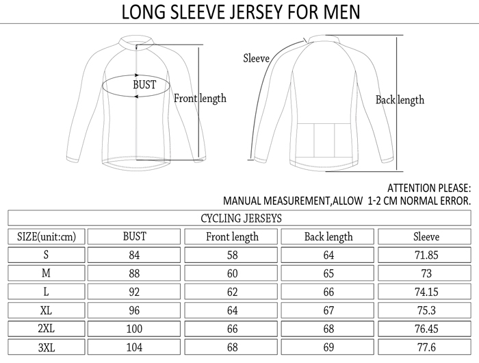 2015 Outdoor riding mens Sexy&cute heat-transfer fleece long jersey sleeve bike/ cycling kits of Monton