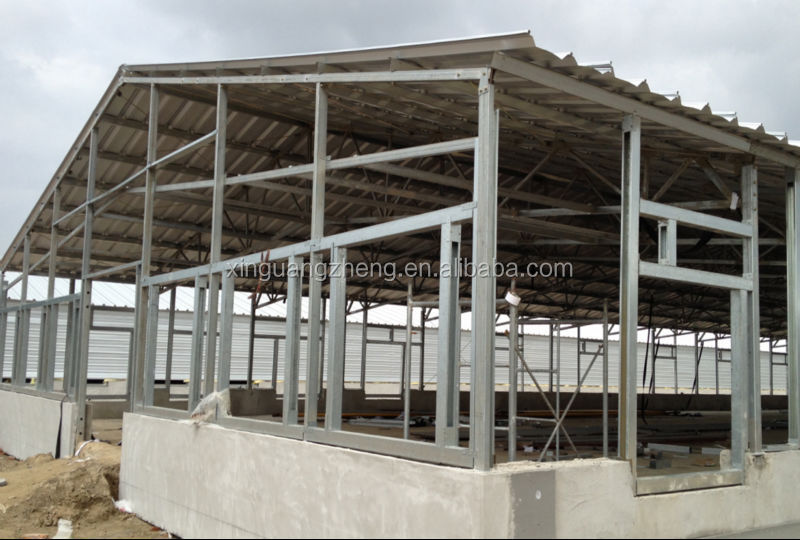 Commercial Chicken House prefabricated steel structure poultry house/light steel structure