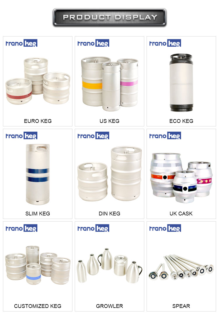 product-Passivation German 15l 195l 75 Gallon 304 Stainless Steel Draft Beer Kegs 25l 12bbl-Trano-im-4