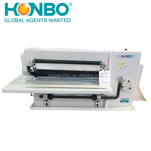 HB-981 industrial safety belt leather cutting trimming machine