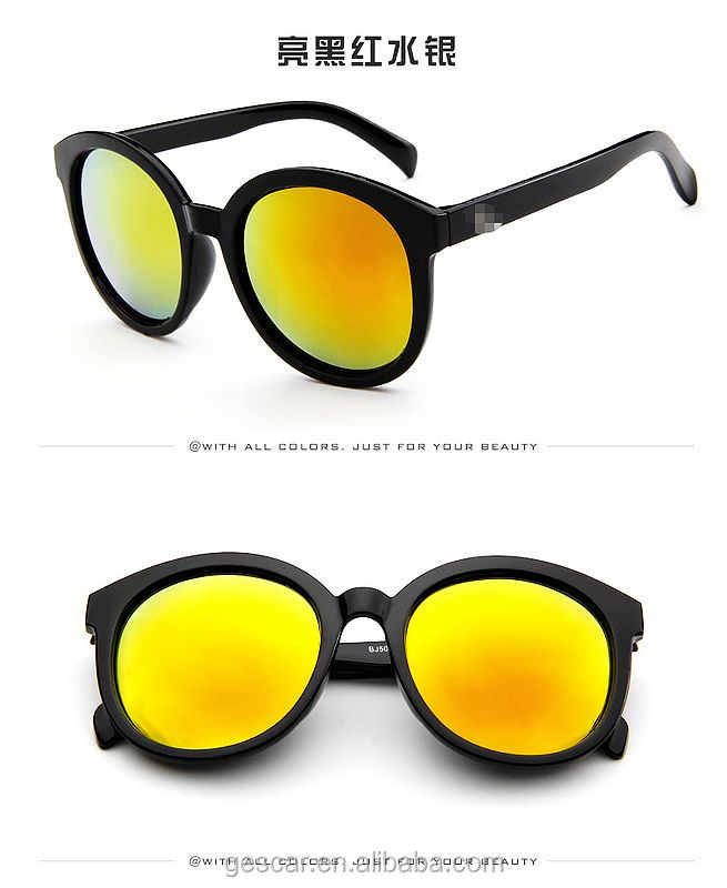 hot sale stylish big frame colorful women fashionable sunglasses