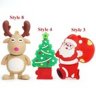 Promotional Christmas gift stockings / boots 2gb 4gb usb flash drive 2019 wholesale Customized Promotional Gift memory stick usb