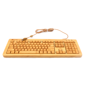 Chinese bamboo USB wired standard full size keyboard supplier best seller with patent