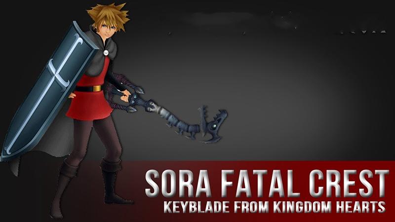 Sora Fatal Crest Foam Keyblade 1:1 Prop Replica Kingdom Hart