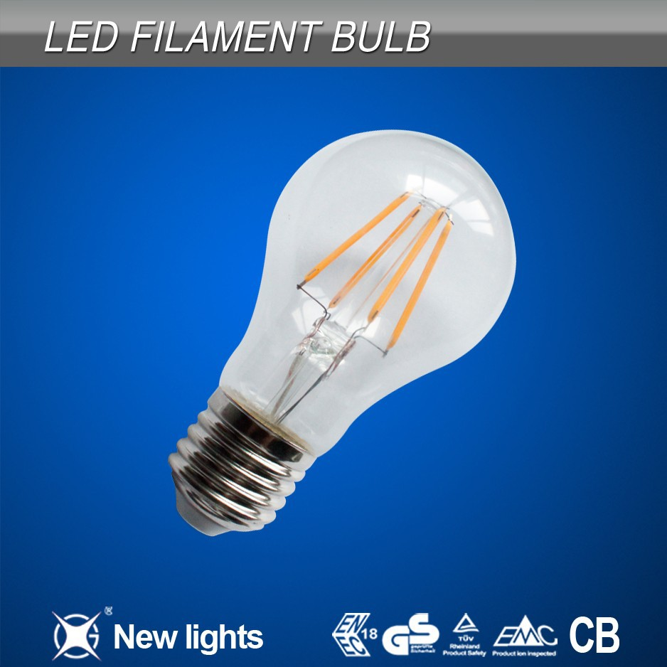 B22 A60 LED Filament Bulb 4W Dimmable and non dimmable A60 LED filament bulbs