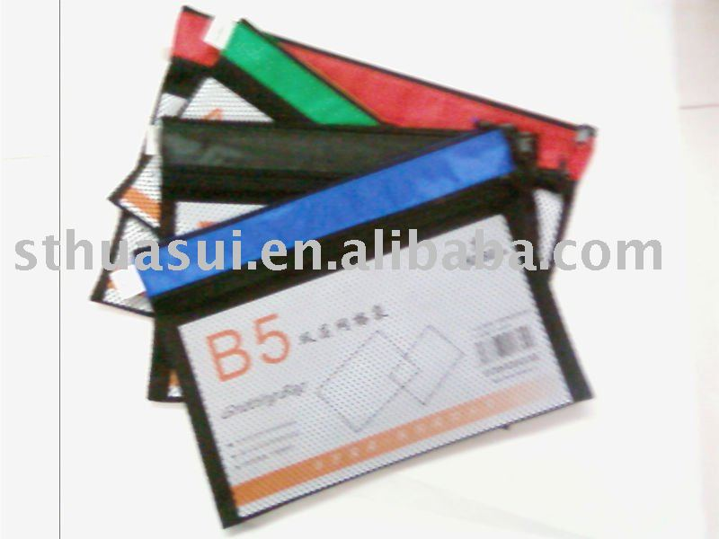 zip mesh bag for office & school