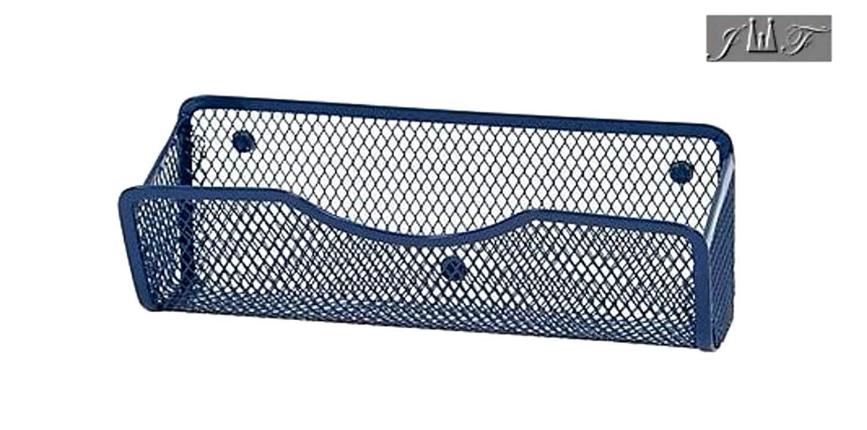 Wire Mesh Magnetic Locker Caddy, School-Office-Home Supply Organizer Desk Tray, Accessory. Keep Your Locker Organized. (Blue)