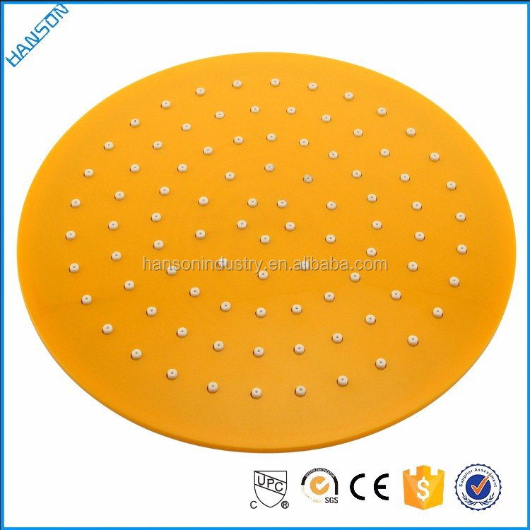 Hanson ABS Round 20cm yellow panel Oval Rain Shower Head