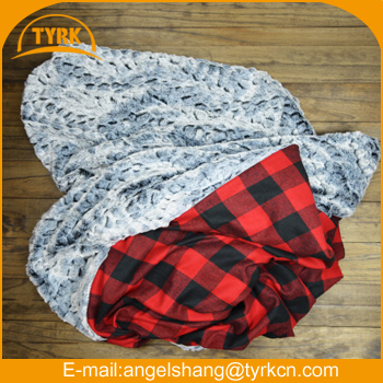 Checkered Fleece Blanket Custom Printed Thick