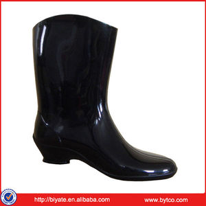 New Style PVC Black Wellies Rain Boots