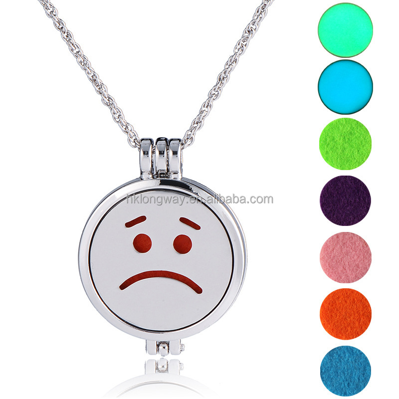 Unisex mood necklace aroma pendant necklace perfume necklace gift for girl friend