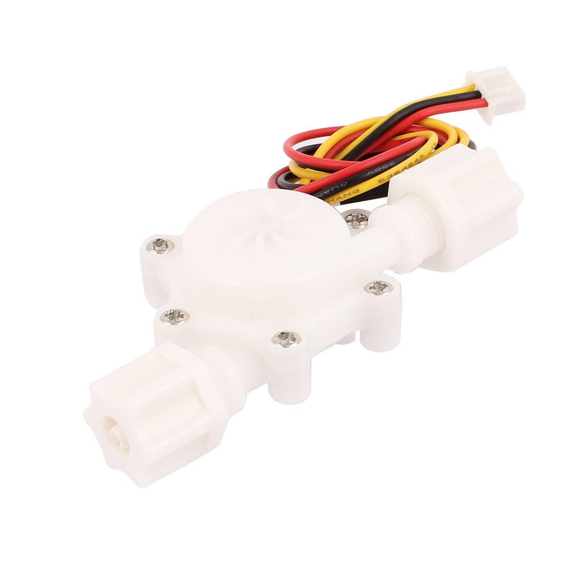 """Uxcell a16042200ux0963 G1/4"""" Hall Effect Liquid Water Flow Sensor Switch Flowmeter Fluid Meter, 0.3-3.0L/Min"""