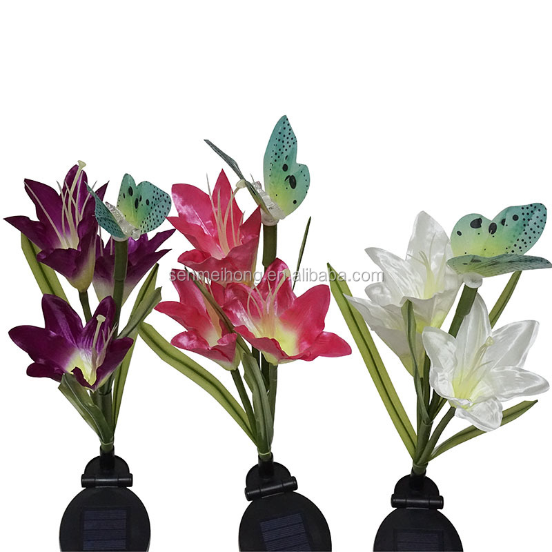 Solar Led Light lilys animal Flower,Artificial Flowers With Led Lights,Decorative Flowers With Lights