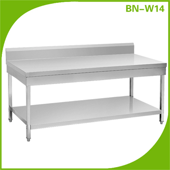 stainless steel kitchen equipment commercial industrial kitchen stainless steel work prep table with backsplash - Stainless Steel Prep Table