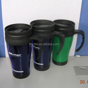 Promotional Mug With Brand Printing Double Wall Car Cup Mug - Buy Double  Wall Plastic Mug With Liquid,Thermal Car Mug,Double Wall Plastic Car Mug  With