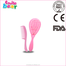 Nice color and design hair combs and brushes (baby hair brush) 2015
