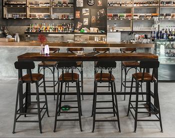 Legno antico ferro tavolo sedie per cafe bar sgabello da dessert