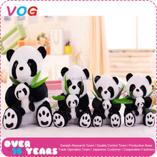 Wholesale handmade custom stuffed animal soft plush sitting mini giant panda toys for baby kids gifts