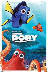 """Finding Dory - Disney / Pixar Movie Poster / Print (Characters: Hank, Dory & Marlin) (Size: 24"""" x 36"""") (By POSTER STOP ONLINE)"""