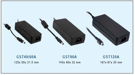GST90A12-P1M Meanwell 90 W AC/DC Power Adaptor 12 V 6A Power Adapter