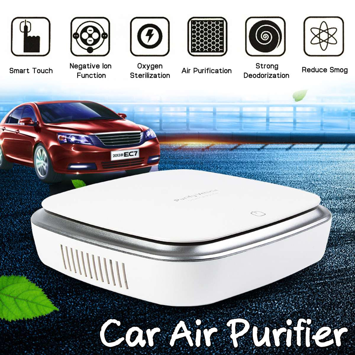 Mobil Air Purifier Freshener Portable Ion Negatif Air Cleaner USB Kabut Cleaner Auto Segar Air Purifier Oksigen Bar Ozon Ionizer