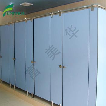 Wood Color Compact Laminate Hpl Waterproof Cheap Toilet Partition