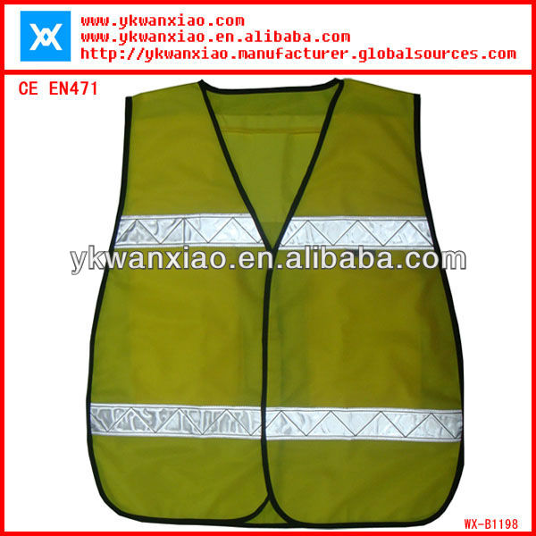 safety pocket vest with PVC tape ;reflective pocket vest with multi~pockets;safety reflective pocket vest with 5 pockets
