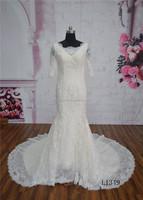 Low back lace mermaid wedding dresses