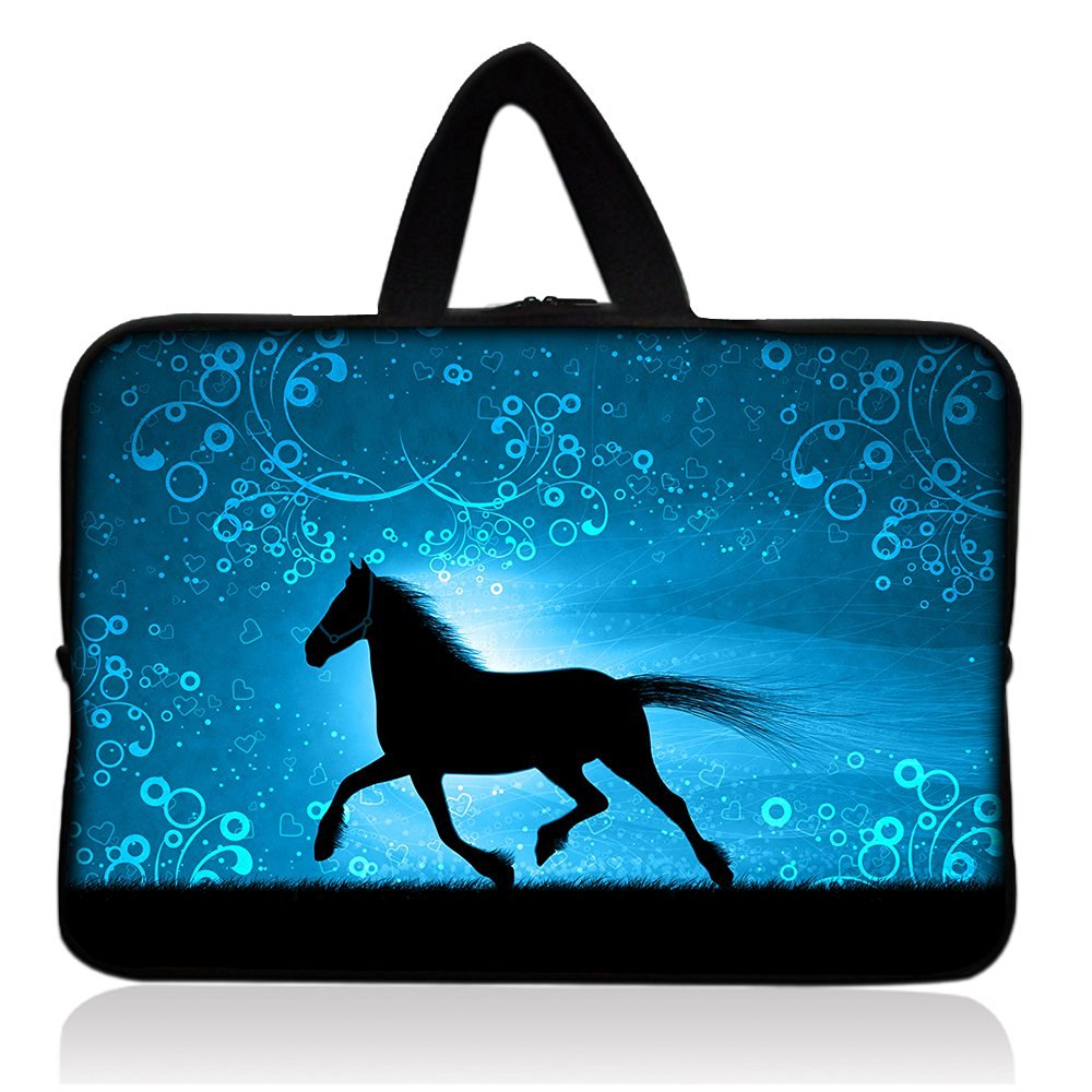 "Horse Fashion New 7"" Neoprene Tablet Sleeve Pouch Case Bag w/ Handle For 7"" iRulu Android 4.2 Tablet PC /Samsung Galaxy Tab 3 7"" Android Tablet /7.9"" Apple iPad mini Tablet /Ematic 7"" Google Android 4.2 Tablet /Proscan 7"" Android 4.0 Touchscreen Tablet /Barnes & Noble NOOK Tablet 7"" Touchscreen"