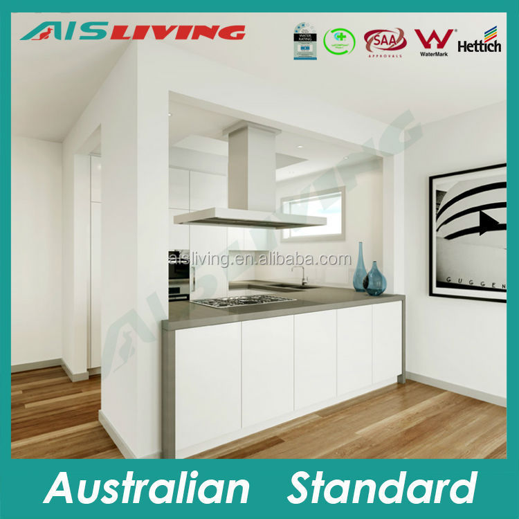 AIS_K186 building material modern white small kitchen designs from guangzhou factory