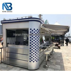 Supply mall design frozen yogurt donut bubble tea ice cream fast food kiosk  for sale barber shop outdoor