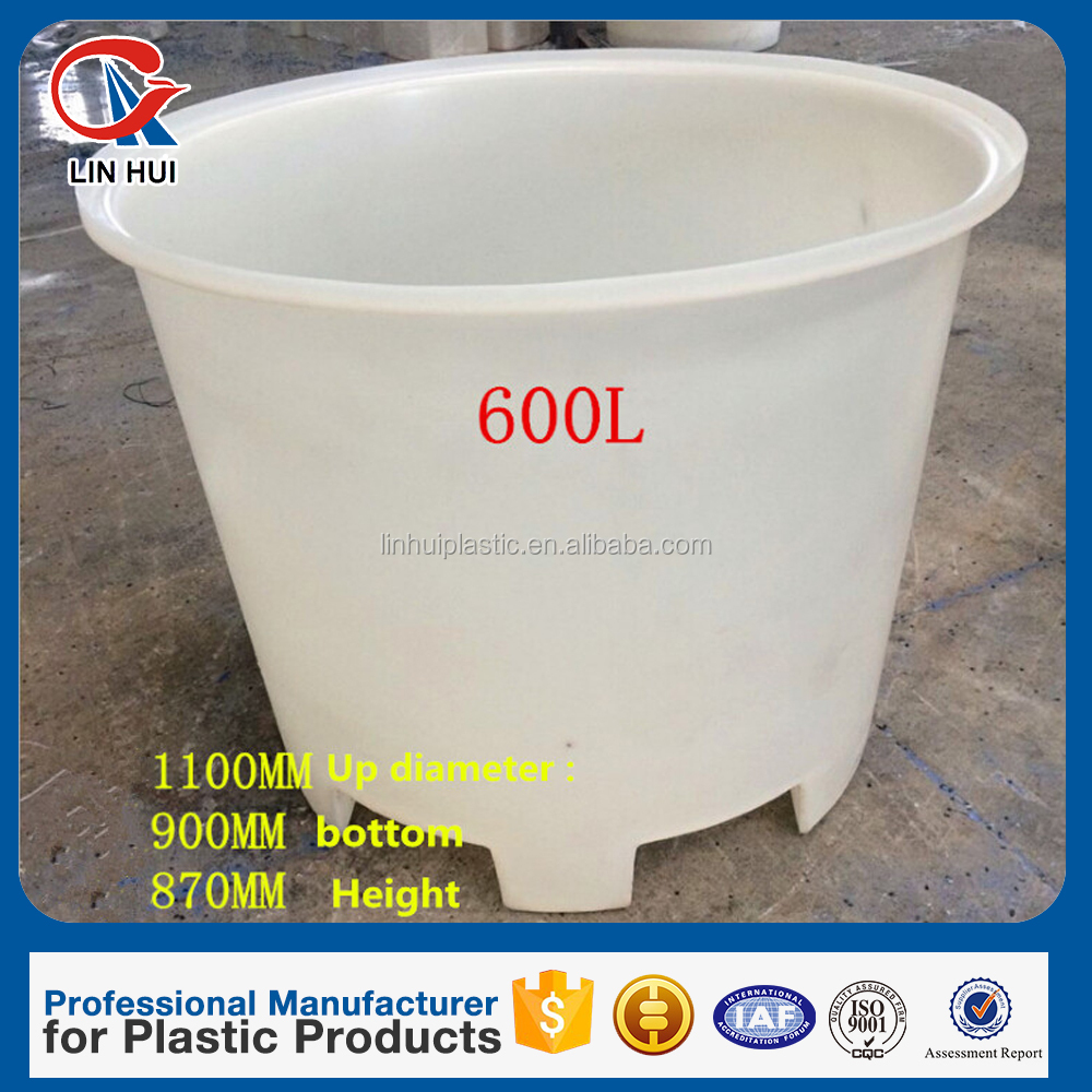 M600L heavy duty round open top Plastic truck container for laundry industrial