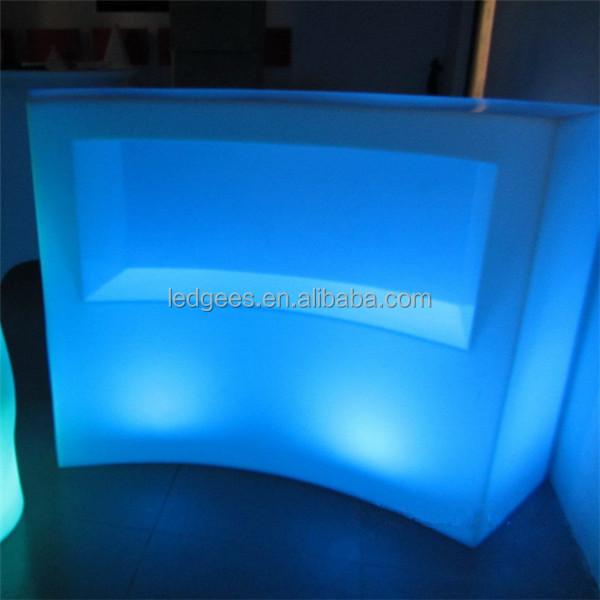 coolqing luminoso bar mostrador muebles luminosa barra de leds reposteria alta barra de reposteria