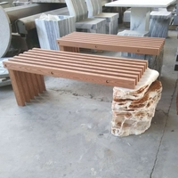 L120cm Outdoor furniture patio stone WPC bench