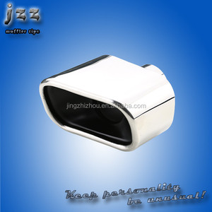 JZZ stainless steel square exhaust muffler tips for w211 exhaust tips
