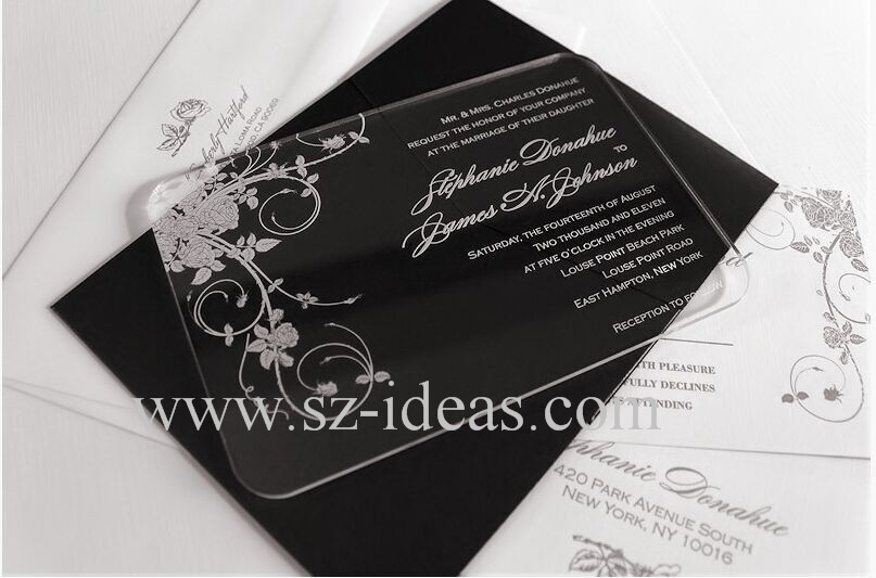 Wedding Invitations In Bulk: 2016-Wholesale-clear-exquisite-acrylic-laser-cut-wedding