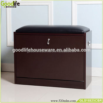 Modern Furniture Design Shoe Rack With Seat For Saudi Arabia