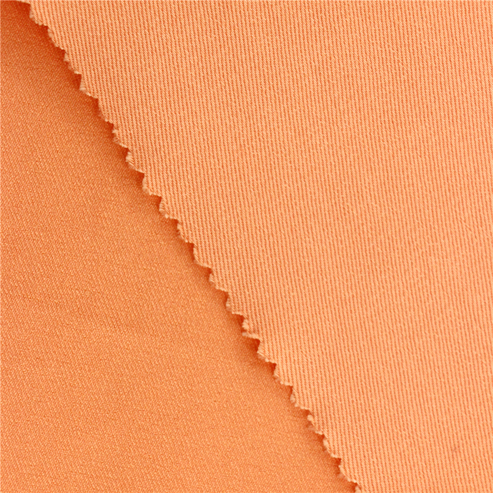 16X150D+70D/126X60 260Gsm 142Cm Orange Wholesale Span Plain Weave Woven Pant Polyester Rayon Spandex Prints Cotton High Quality