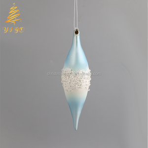 Blue Hanging bauble 2018 Christmas and can be designed by customers