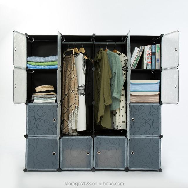 PP Material Cube DIY Closet Wardrobe,Removable Home Use Closet Storage Box