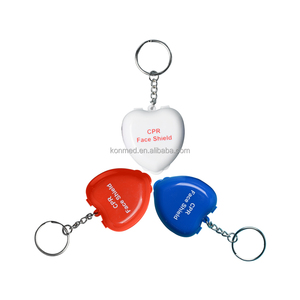 2019 Disposable Latex Free CPR Keyring CPR Face Mask Mini First Aid Kit