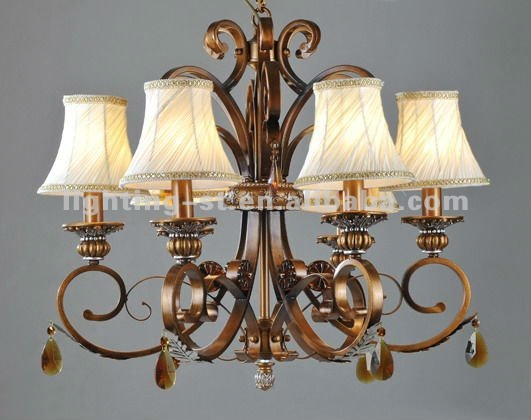 2012 Iron decoration wrought Chandeliers,crystal,CH051-6