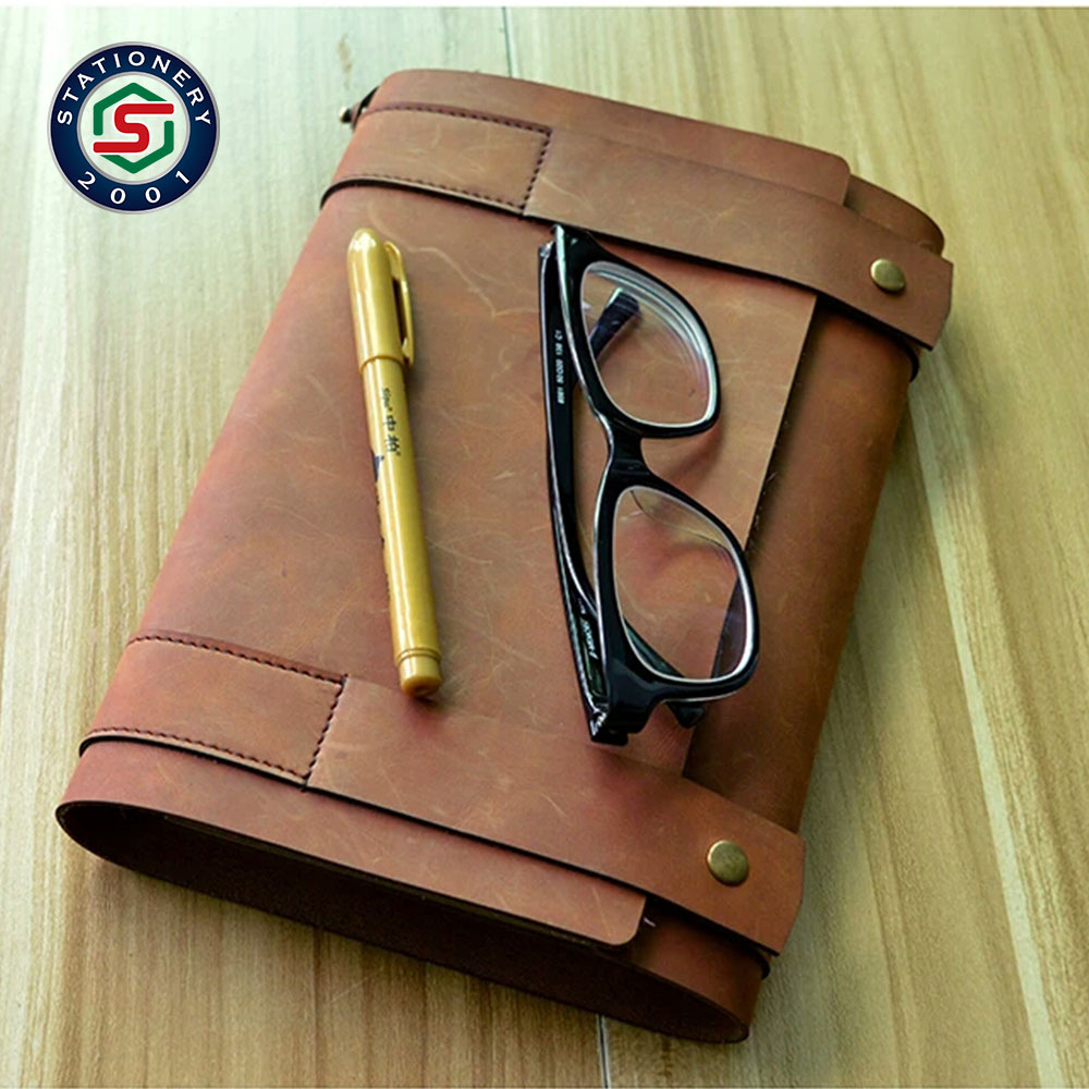 classic real leather notebook