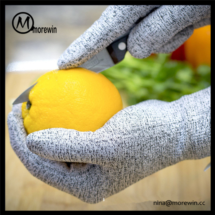Morewin Top Quality Anti Cutting Safety Gloves,Meat Level 5 Cut Resistant Gloves