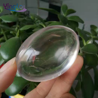 Wholesale polished natural rock crystal clear quartz stone palm for handing healing