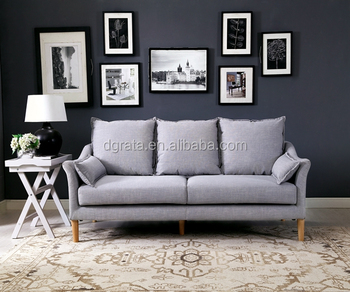2017 Chinese Factory Direct Offer Fabric Sofa Sets Gray For