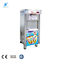 3 flavors commercial soft ice cream machine stainless steel frozen yogurt machine