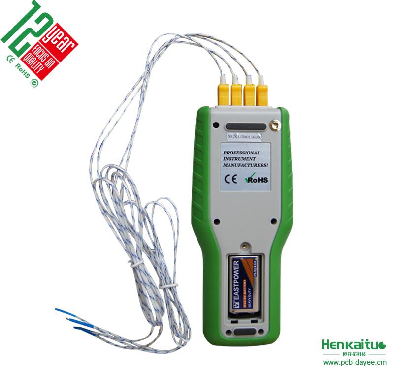 Handheld 4 Kanal K Typ Digital Thermoelement Draht Thermometer F ...